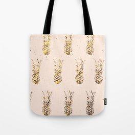Gold Pineapples Tote Bag