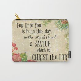 Christmas Bible Verse Typography Carry-All Pouch