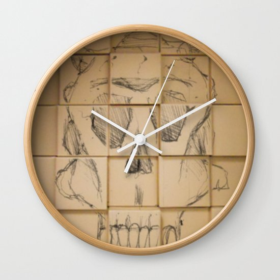 Space in Boxes Wall Clock