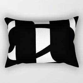 Hidden Letters. Baskerville A Rectangular Pillow