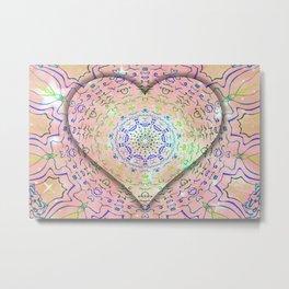 Heart a glow Metal Print