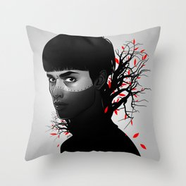 Black & Red Throw Pillow