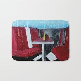 American Diner Impressionist Acrylic Fine Art Bath Mat