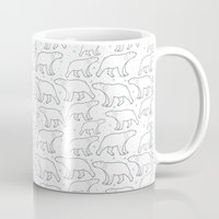 polar bear Mugs featuring polar bear by LOLIA-LOVA