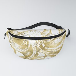 Gold Octopus Fanny Pack