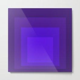 Block Colors - Neon Purple Metal Print