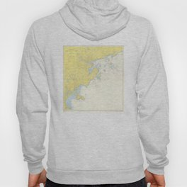 Vintage Map of North Shore Massachusetts (1957) Hoody