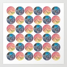 Day and Night Watercolour Art Print
