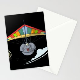 Hang Glider Hippo Stationery Cards