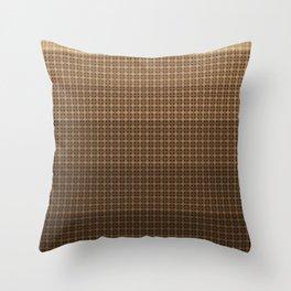 Brown plaid Throw Pillow