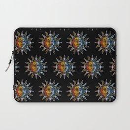 Celestial Mosaic Sun and Moon Laptop Sleeve