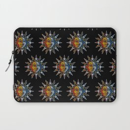 Celestial Mosaic Sun and Moon Laptop Sleeve