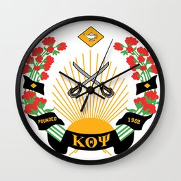 Kappa Emblem Design Wall Clock
