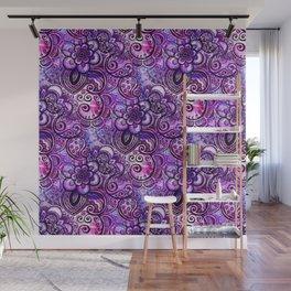 Purple Paisley Vision Wall Mural