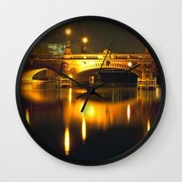 Moltke-Bridge at the river Spree in Berlin Wall Clock