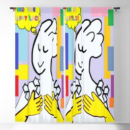 ASL Find Your Happy Place Blackout Curtain