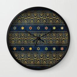 Menorah Pattern Wall Clock