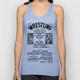 #1 Memphis Wrestling Window Card Unisex Tank Top