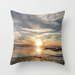 Plumcove Sun pillar Throw Pillow