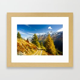 Lötschental in autumn Framed Art Print
