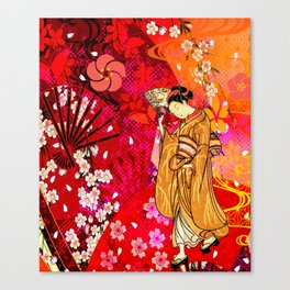 日没 (sunset) Canvas Print