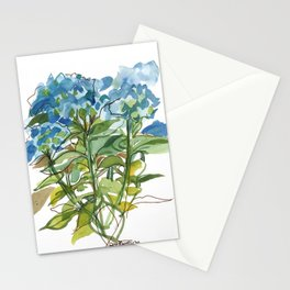 Hydrangeas in a group Stationery Cards