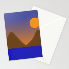 sunset somewhere at the pacific coast Stationery Cards