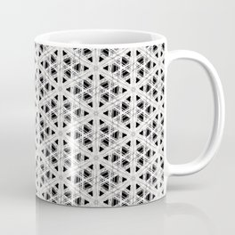 Modern abstract tiny triangle shaped lace modern abstract pattern Coffee Mug