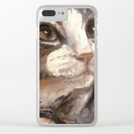 Boots the feral / art for cat lovers Clear iPhone Case