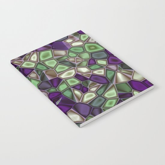 Fractal Gems 02 - Purples and Greens Notebook