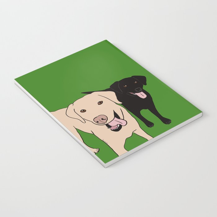 Tanner and Lily Best Labrador Buddies Notebook