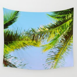 Palm Trees Tropical Photography Wall Tapestry