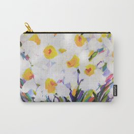 White Daffodil Meadow Carry-All Pouch