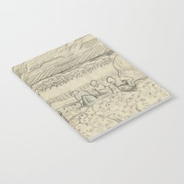 Landscape with Peasant Women Harvesting Notebook