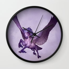Purple Pegasus Wall Clock