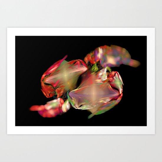 Flower Work  (A7 B0236) Art Print