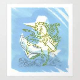 Unicorn Fucking a Dolphin Art Print
