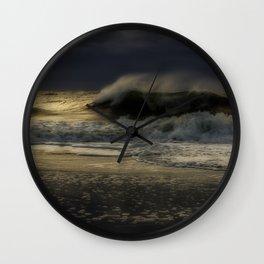 Moody day at Long Beach Island Wall Clock