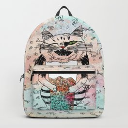 Emotional Cat. Playful. Backpack
