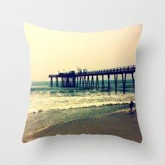 Shore at Dusk Throw Pillow