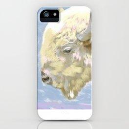 White buffalo calf iPhone Case