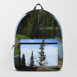 Serene Yellowstone River Backpack