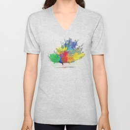 Peacock Colorful Unisex V-Neck