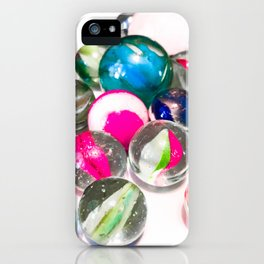 Pink Marbles iPhone Case