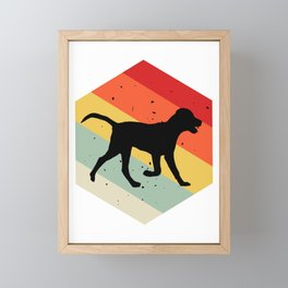 Labrador Puppy design For Dog Lovers Cute Dog Framed Mini Art Print