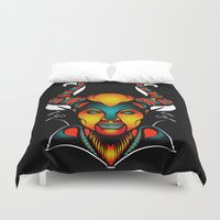 maleficent Duvet Covers featuring Maleficent by Quakerninja