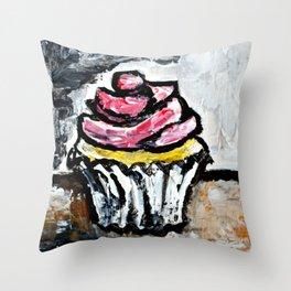 Sweet Treats Still Life: Cupcake Throw Pillow
