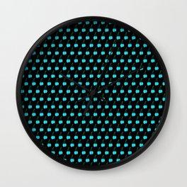 Blue Cherries Wall Clock