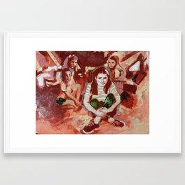 Alone Amongst Friends Framed Art Print