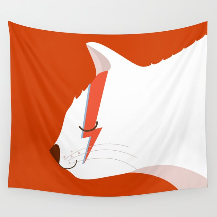 David Meowie Wall Tapestry